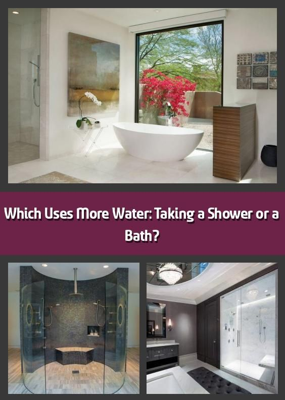 Which Uses More Water Taking A Shower Or A Bath If You Re Trying To Save Money Which Bathing Option Uses More Water How Can You Tell Comparing A Shower T 2020
