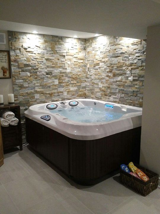 Pin By Barbara Phillips On Hot Tub Inspiration Hot Tub Room Indoor Hot Tub Home Spa Room