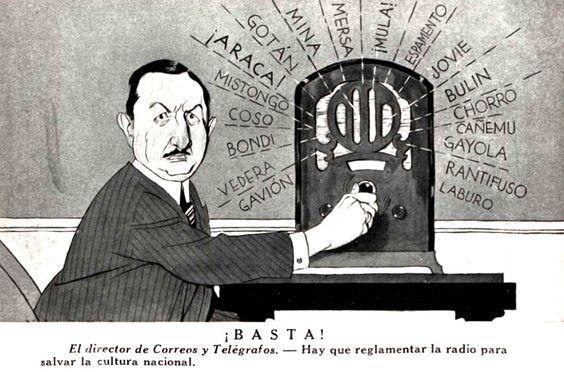Orden en la radio. Revista CARAS y CARETAS, década del 30.