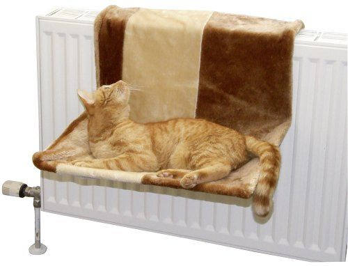 Gemütliche Heizkörper-Hängematte für deine Katze