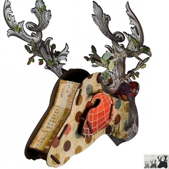 Decorative stags head home decorating pinterest deer heads stag head and deer - Decorative stags head ...
