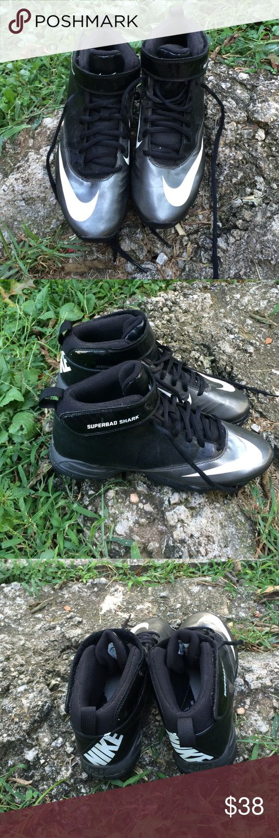 Nike Superbad shark Men's football cleats In lightly used condition,there's nothing wrong with this item.from a smoke free home:) Nike Shoes Athletic Shoes