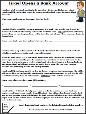 Printables Pedestrian Safety Worksheets free life skills worksheet pedestrian safety special education opening a bank account
