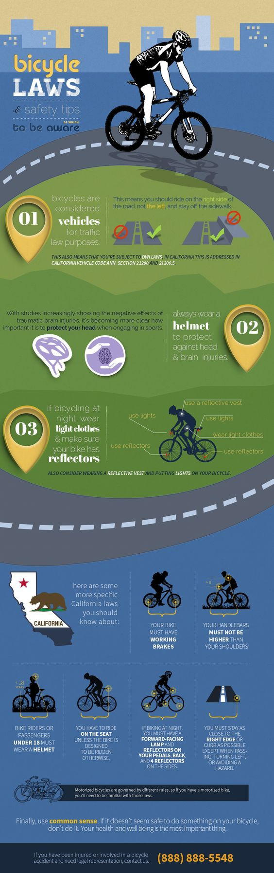 Bicycle laws and Safety #infographic #Bicycle #Laws