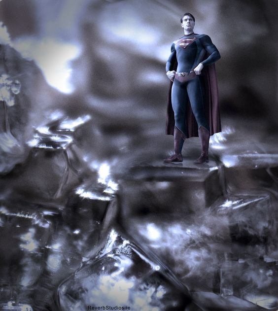 Superman standing on my home made sugar crystals thinking it's his home....doh.