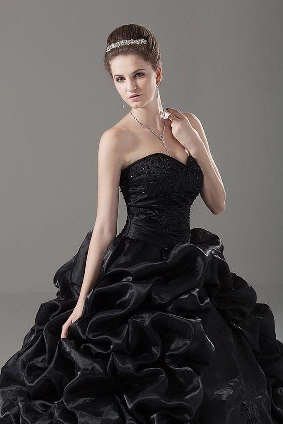 Beautiful- My wedding and Black wedding dresses on Pinterest