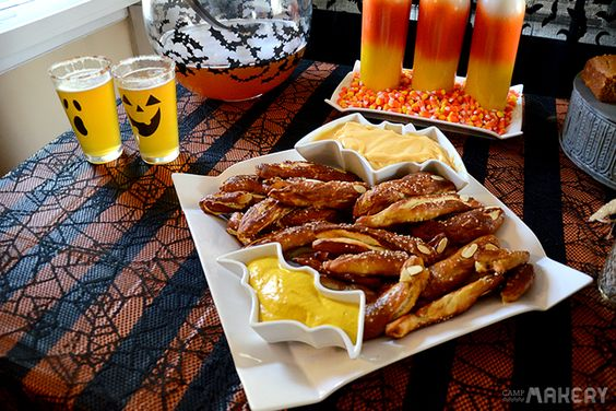 Zombie Pretzel Fingers    Camp Makery  Pottery Barn, Pretzels, Fall snacks, Easy snacks, Halloween recipes