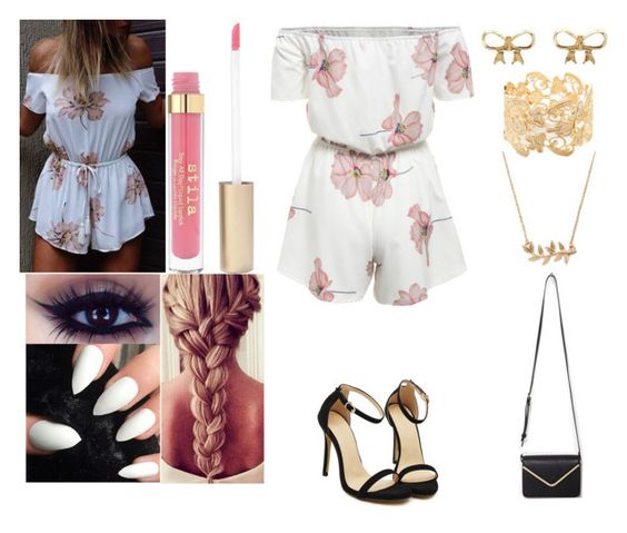 """""""Pink Spirit"""" by nsparisqueen ❤ liked on Polyvore featuring Charlotte Russe, Forever 21, Stila and pinkspirit"""