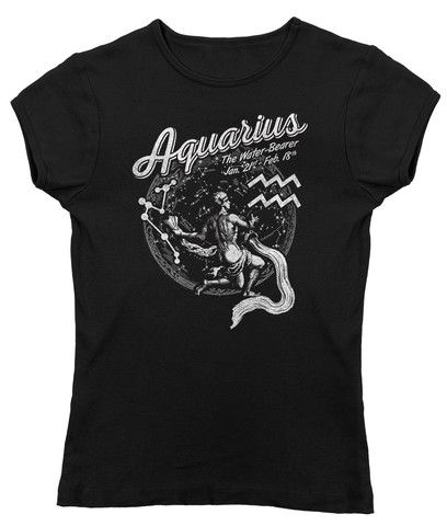 Women's Vintage Aquarius Zodiac T-Shirt - Juniors Fit. $25.00 from #Boredwalk, plus free U.S. shipping. Click to purchase!