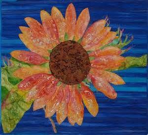 Mexican Sunflower Art Quilt