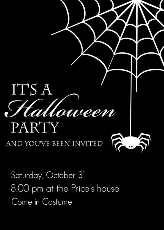 Invite every one to your Halloween party with these free printables!