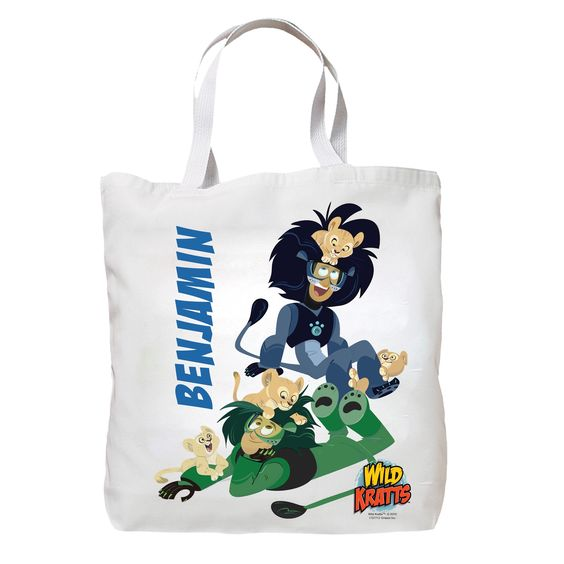 Wild Kratts Lion Cubs Tote Bag from PBS Kids Shop