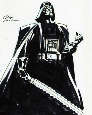 Ungolantschilde This is some of the most awesome Star Wars art that I've come across in a long time. What makes it so cool is the fact that it was drawn by DC animation producer Bruce Timm. I've never seen this art of his before, but how amazing would it be if we got a Star Wars animated series in the same style as Batman: The Animated Series? Timm really is a talented artist and I love his style. This is the perfect post for Star Wars day.