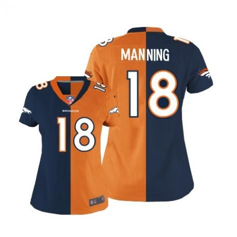 ... best price nike womens peyton manning alternateteam two tone jersey  denver broncos nfl easy returns da1c8 e489d8dbe