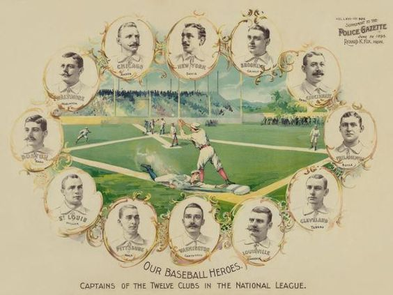 Our Baseball Heroes - Captains Of The Twelve Clubs In The National League by Vintage Sports