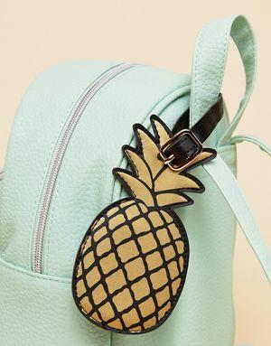 Sass & Belle - Étiquette à bagage ananas - Doré
