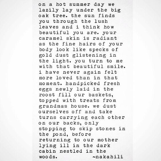 Summer 1987 #poem #prose