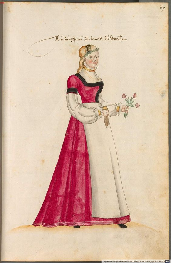 costumes of women and men in Germany, Europe, Orient, Africa 16th Century