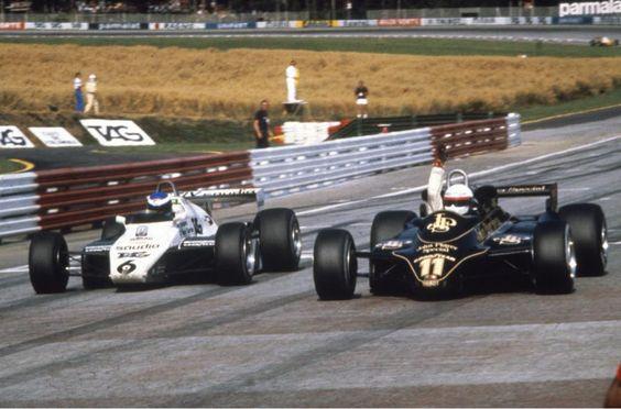 Pic the day, no. 228/365: De Angelis (Lotus 91) pips Rosberg (Williams FW08), Austrian GP, August 15, 1982. ©LAT