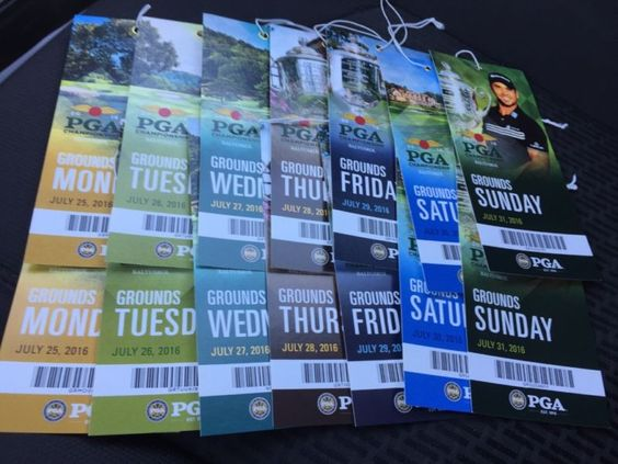 Pair of weekly grounds passes to 2016 PGA championship at Baltasrol. #days #tickets #passes #grounds #championship