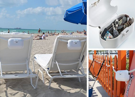 Portable Personal Safe – Lock up your valuables at the beach or by a pool. Take it with you on a resort vacation or on a cruise.