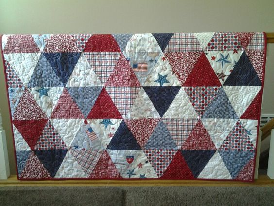 """Patriotic Quilt. """"Love, love, love this!"""" I this the subtlety of this one. Cjj"""