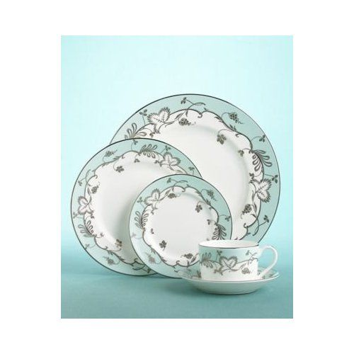 Martha Stewart's Flourish Robin's Egg Blue 5 Pc Place Setting by Wedgewood China