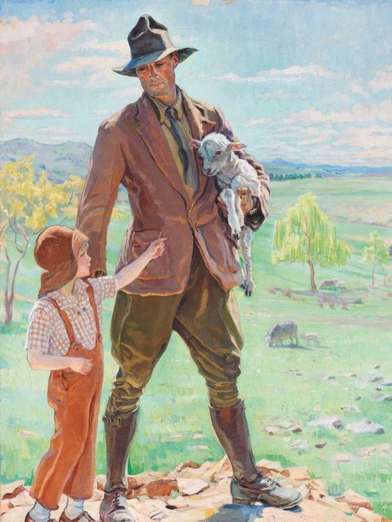 The shepherd of Knockalong 1933 by Hilda Rix Nicholas. Beautiful work.: