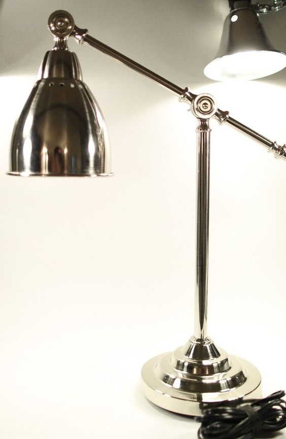 IKEA BAROMETER desk light nickel plated work lamp reading office