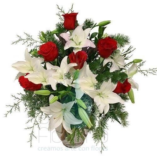 Lirios y rosas: