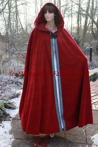 Handgefertigt*Fleece*Cape*Umhang*Überwurf*Mittelal von Mittelalter Fashion auf DaWanda.com