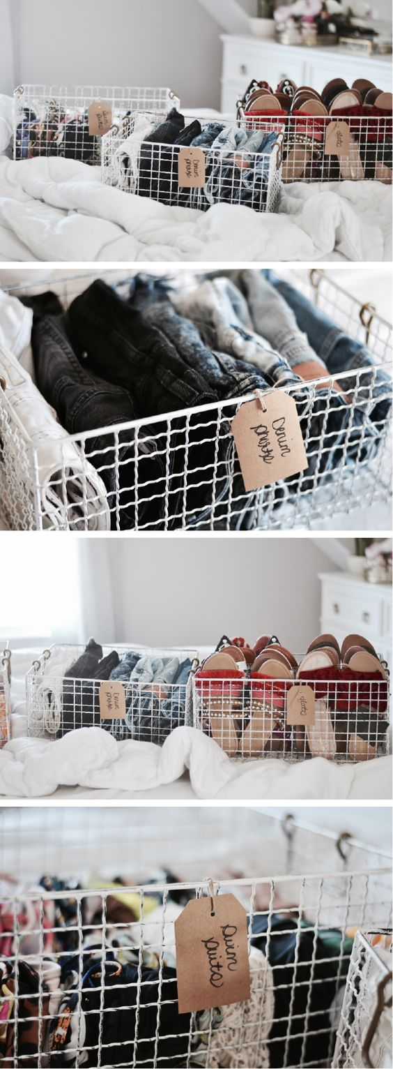 Closet organization - how to organize your closet and denim shorts, shoes, swimsuits | Closet organization ideas | DIY closet organization | Small closet organization | Lifestyle Blogger | By Erika Batista