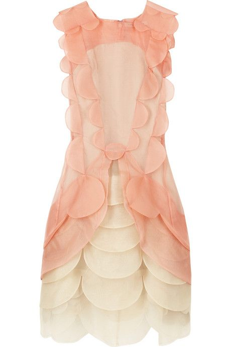 Christopher Kane Dress: This frothy frock has scalloped edges and is every bit the blushing bride.  #ChristopherKane  #JournelleHappilyEverAfter