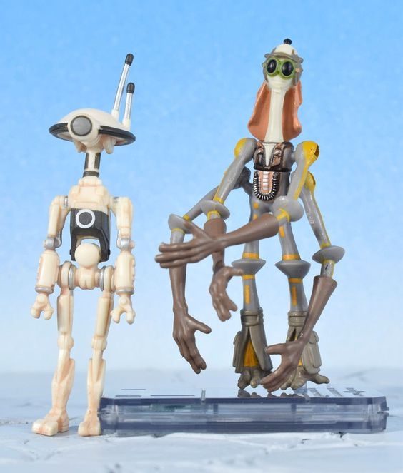 """Star Wars Ep1 GASGANO & PIT DROID 3.75"""" Action Figure Kenner 1999 #Kenner"""