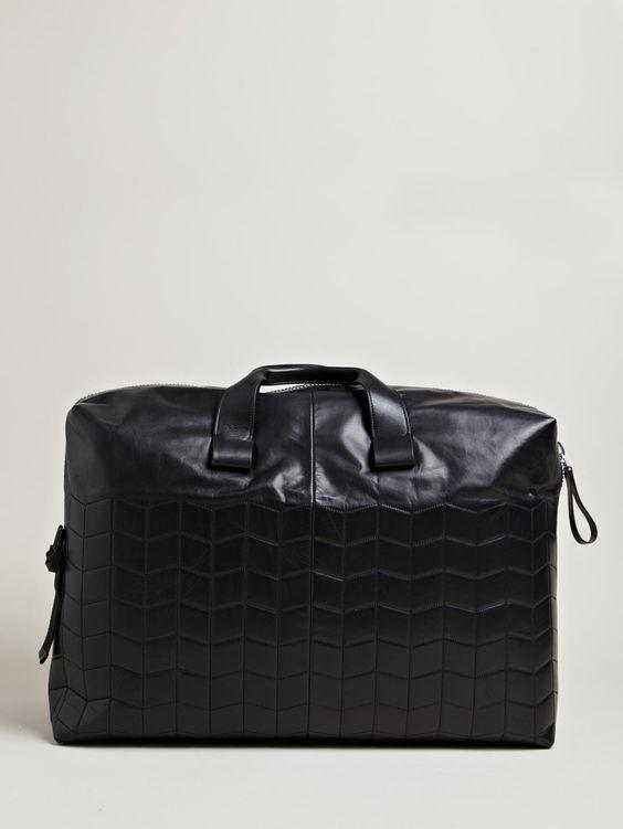 Lanvin Men's Paper Effect Weekend Bag