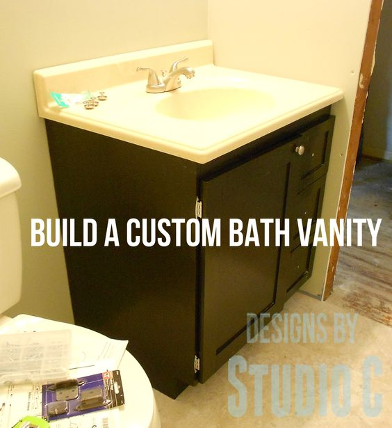 Free DIY Woodworking Plans to Build a Custom Bath Vanity There are some really cool bathroom vanities on the market today. They also come with some pretty large prices! Most of them are only config...