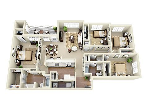 Glen Park Apartment Homes Apartment Rentals Smyrna Ga Zillow House Layouts House Layout Plans Sims House Design