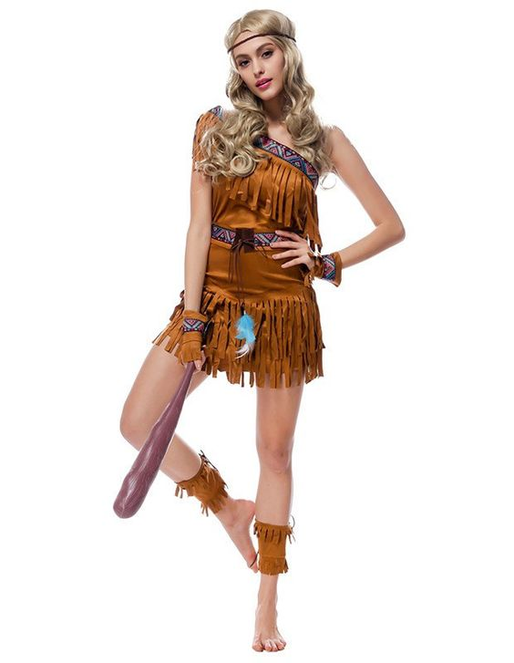 Native American Indian Jungle Queen Womens Halloween Costume