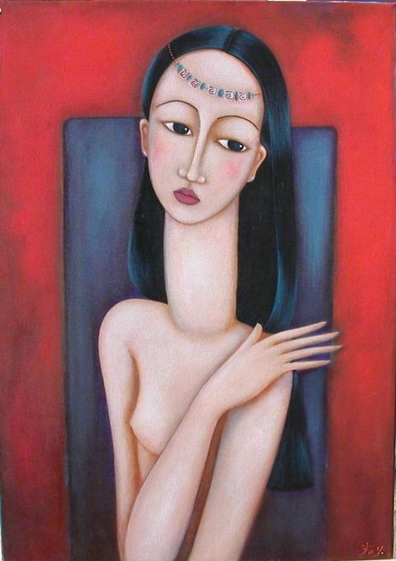 Faiza Maghni   Self-taught painter from Oran, Faiza Maghni lives and works in Paris for ten years. The painting has long been a desire more or less unconscious and totally obscured that has become natural in the future.  via moimir.org