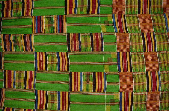 Kente cloth (from Ghana)