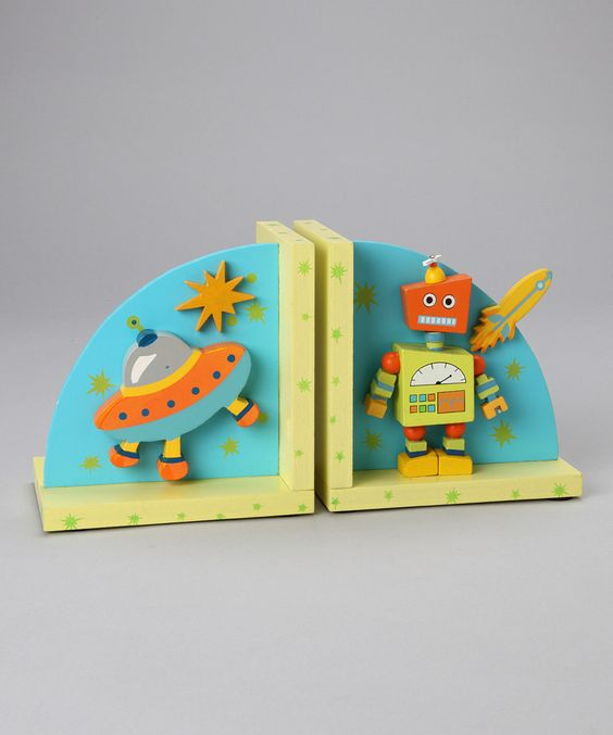 Alien Bookends- for a boy