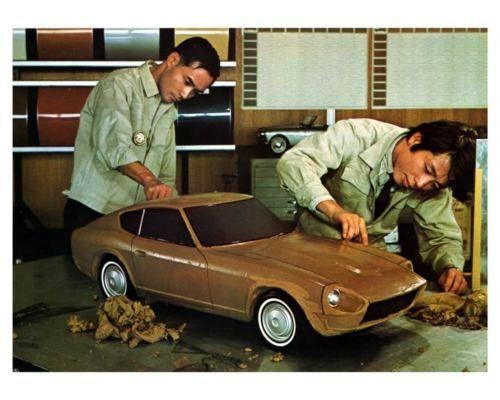 1968 1969 Datsun 240z Z432 Jdm Clay Model Photo Poster Zca1850 クラッシックカー フェアレディz フェアレディ