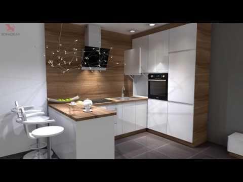 Projekt 3d Salon Z Otwarta Kuchnia Kormoran Zagan Youtube Home Decor Home Furniture