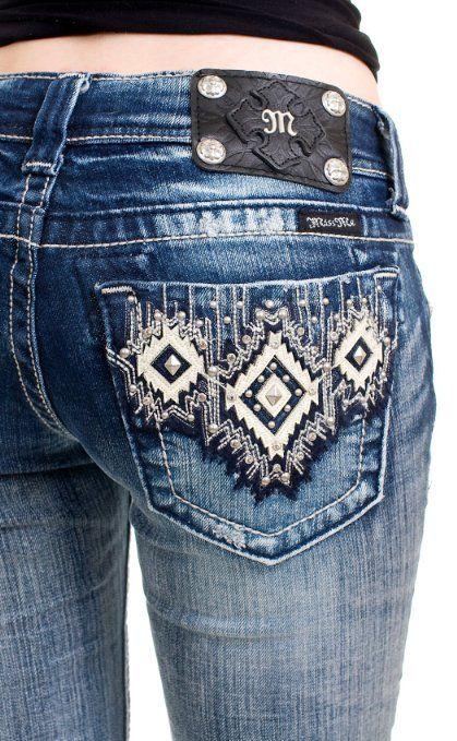 Miss Me Aztec bootcut jeans