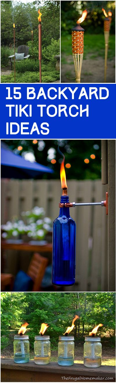 15 Backyard Tiki Torch Ideas