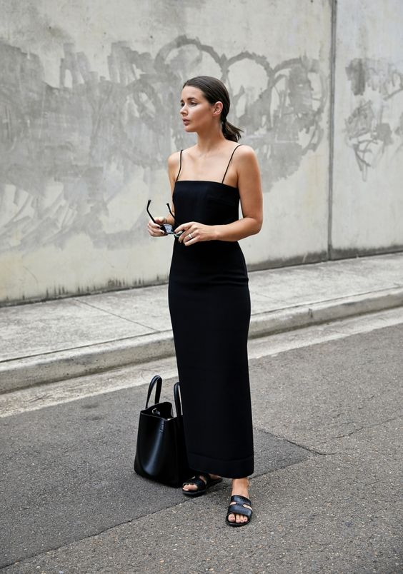 Not quite ready to let go of your all-black wardrobe for spring? We've rounded up five ultra-sleek monochrome looks that will easily take you from day to night.