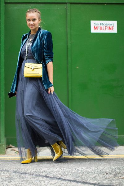 Velvet and Tulle - The Best Street Style at London Fashion Week Spring 2017 - Photos:
