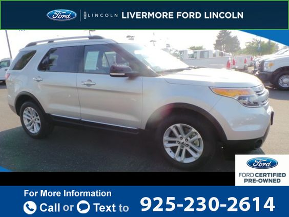 2013 *Ford*  *Explorer* *XLT*  52k miles Call for Price 52307 miles 925-230-2614 Transmission: Automatic  #Ford #Explorer #used #cars #LivermoreFord #Livermore #CA #tapcars