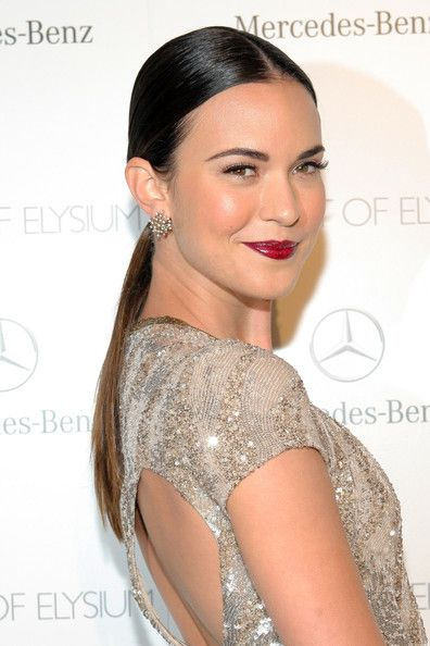 Odette Annable Ponytail - Odette Annable topped off her look with a super-sleek…
