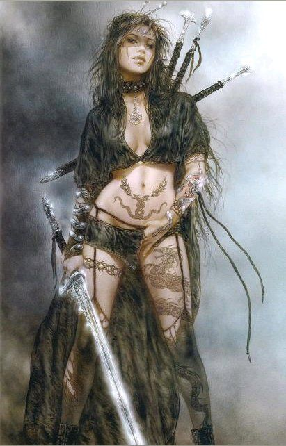Femme-Guerriere-Luis-Royo dans fond ecran femme guerriere
